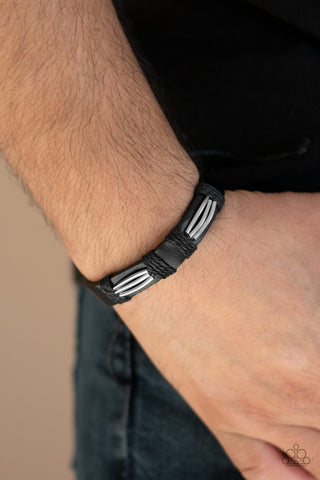 Industrial Interstate Paparazzi Bracelet-Black