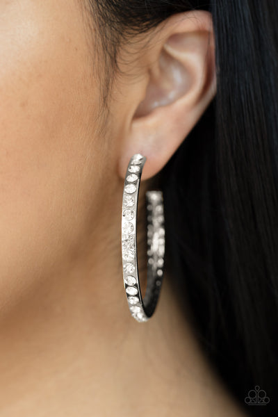 Global Gleam Paparazzi Earrings-White