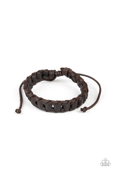 Grit and Grease Paparazzi Bracelet-Brown