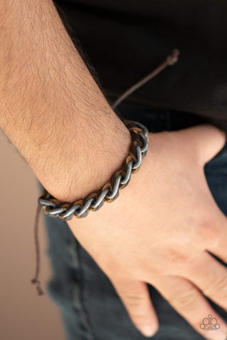 Grease Monkey Paparazzi Bracelet-Brown