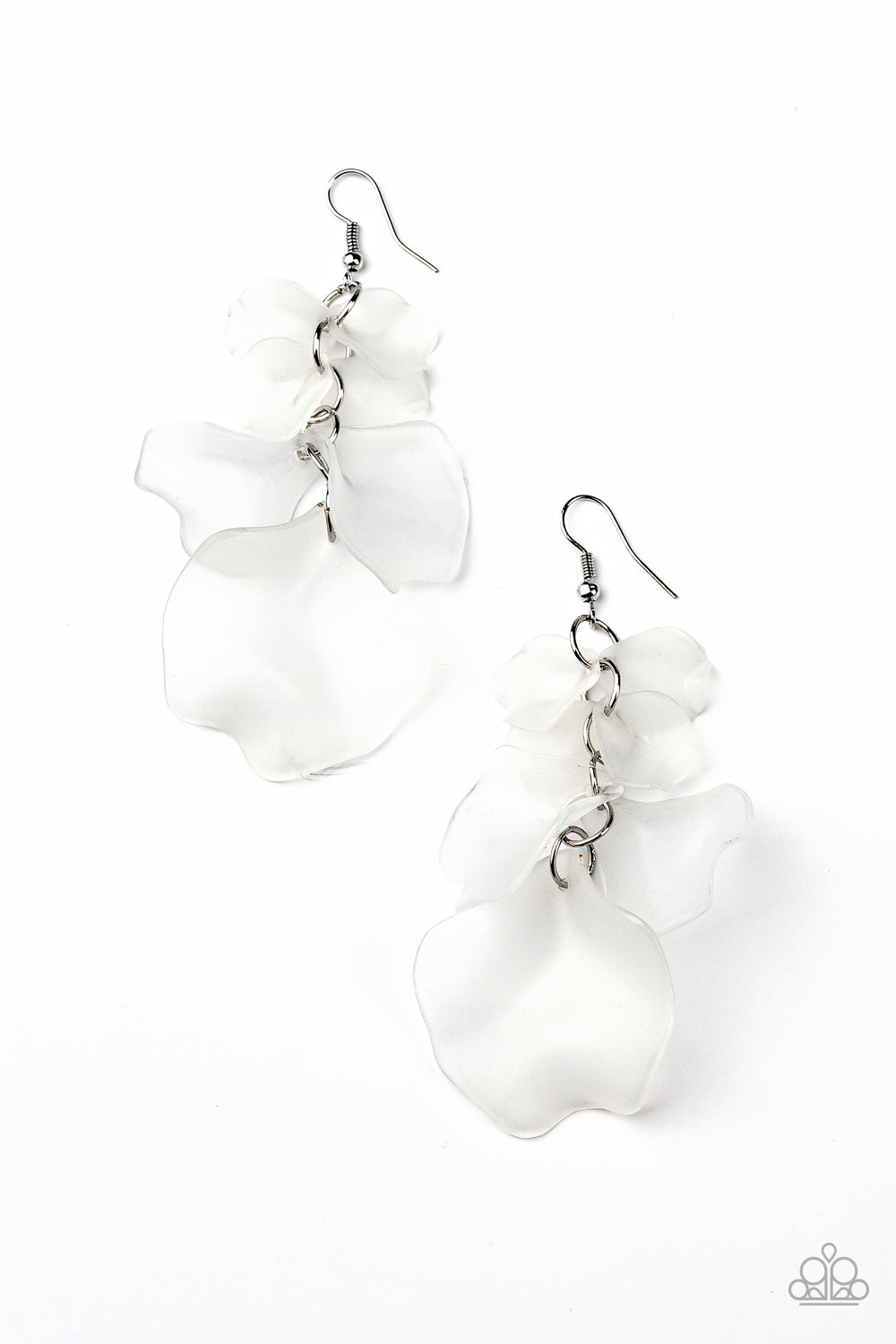 Fragile Florals Paparazzi Earrings-White