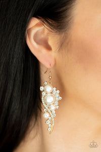 High-End Elegance Paparazzi Earrings-Gold