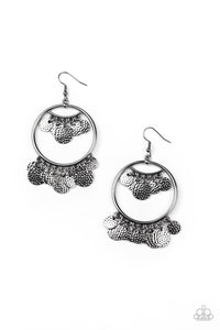 All-CHIME High Paparazzi Earrings-Black