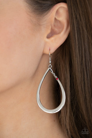 Very Enlightening Paparazzi Earrings-Red