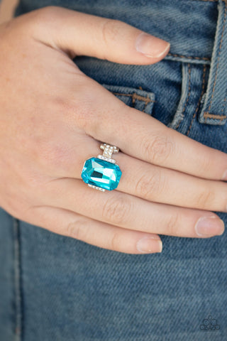 You Can COUNTESS On Me Paparazzi Ring-Blue
