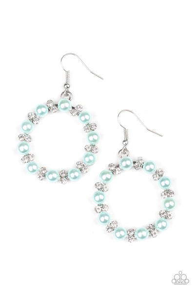 Symphony Sparkle Paparazzi Earrings-Blue