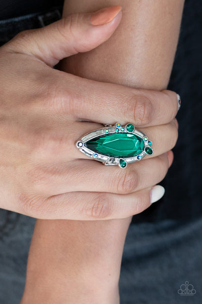 Sparkle Smitten Paparazzi Ring-Green