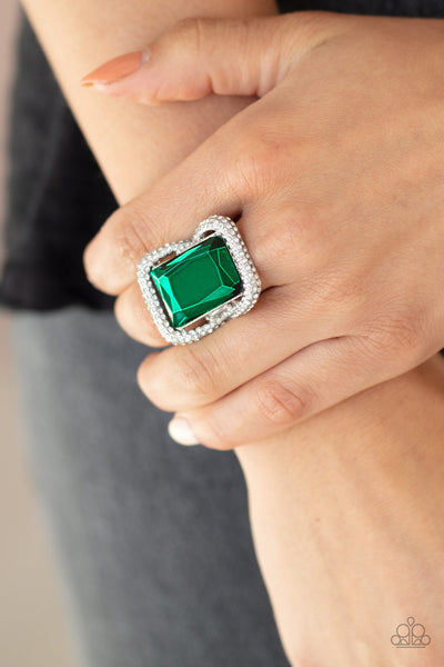 Deluxe Decadence Paparazzi Ring-Green