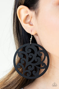 Fresh Off The Vine Paparazzi Earrings-Black
