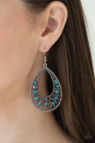Love To Be Loved Paparazzi Earrings-Blue