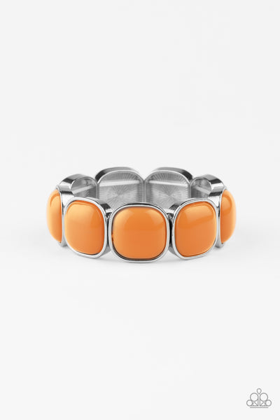 Vivacious Volume Paparazzi Bracelet-Orange