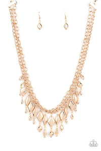 Trinket Trade Paparazzi Necklace-Gold