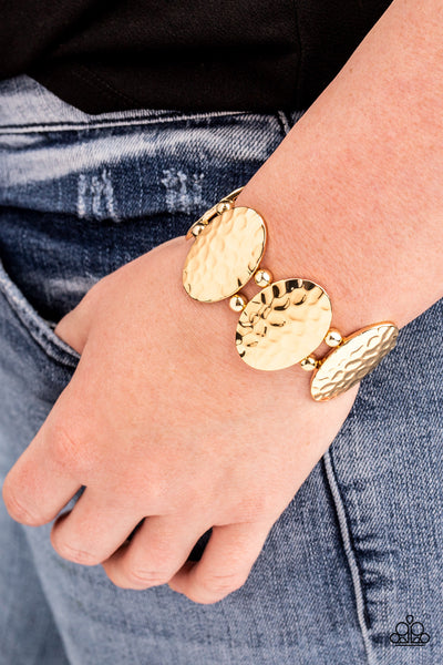 Radial Reflections Paparazzi Bracelet-Gold