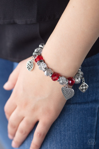 Fabulously Flirty Paparazzi Bracelet-Red