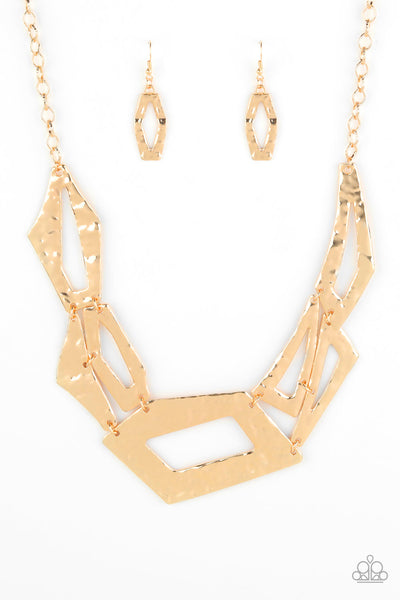 Break The Mold Paparazzi Necklace-Gold