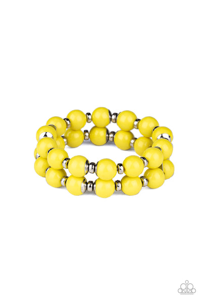 Bubble Blast Off Paparazzi Bracelet-Yellow
