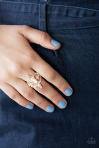 Fleur de Fancy Paparazzi Ring-Rose Gold