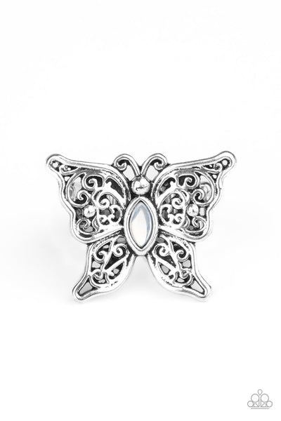 Flutter Flavor Paparazzi Ring-White