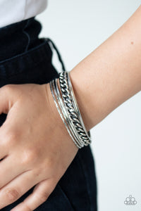 A Piece of The Action Paparazzi Bracelet-Silver