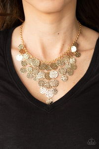 Spotlight Ready Paparazzi Necklace-Gold