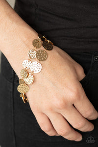 Rooted To The SPOTLIGHT Paparazzi Bracelet-Gold
