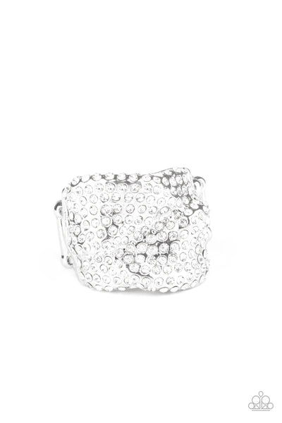 Imperial Industrialism Paparazzi Ring-White