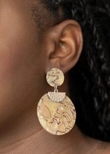 Really Retro-politan Paparazzi Earrings-Yellow
