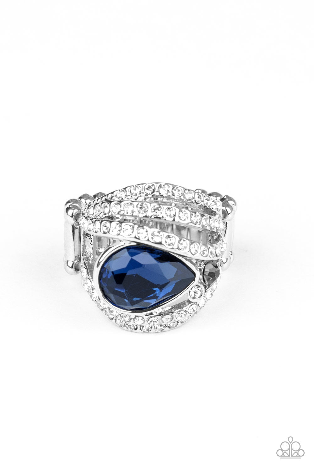 Stepping Up The Glam Paparazzi Ring-Blue