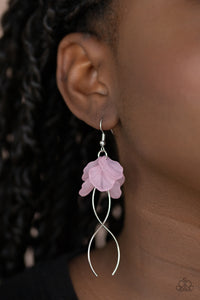 Lets Keep It ETHEREAL Paparazzi Earrings-Pink