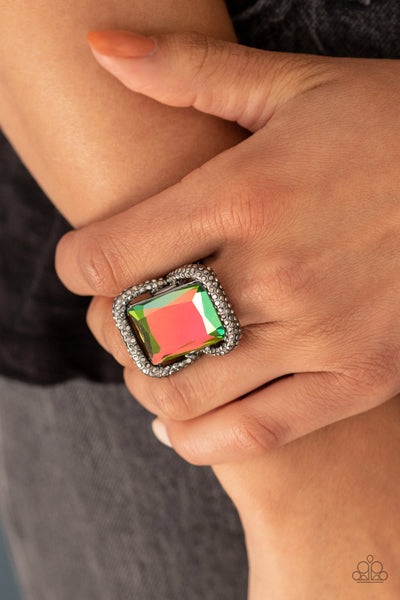 Deluxe Decadence Paparazzi Ring-Multi