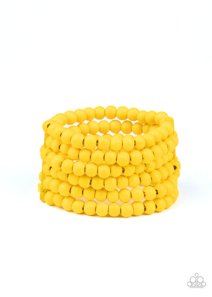 Diving in Maldives Paparazzi Bracelet-Yellow
