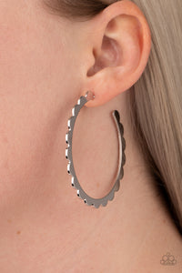 Radiant Ridges Paparazzi Earrings-Silver