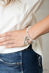 Leaving So SWOON? Paparazzi Bracelet-White