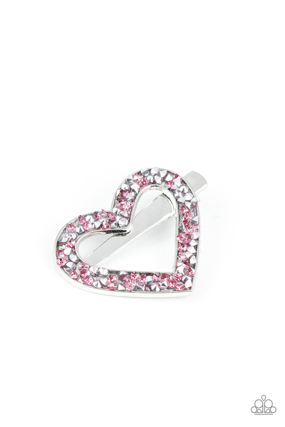 Love is a Battlefield Paparazzi Hair Clip-Pink