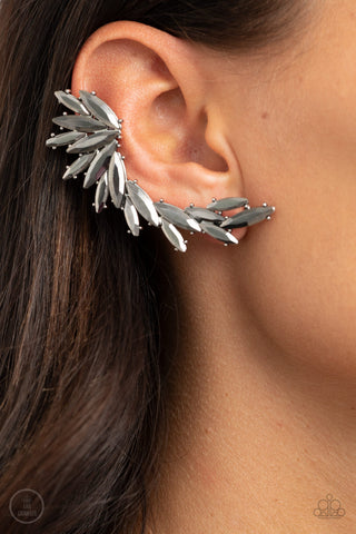 Because ICE Said So Paparazzi Earrings-Silver