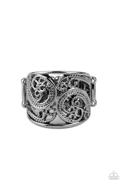 Turning The Tides Paparazzi Ring-Black