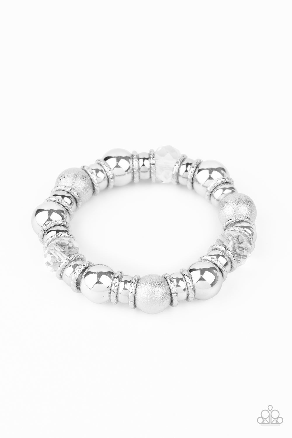 Take Your Best Shot Paparazzi Bracelet-White