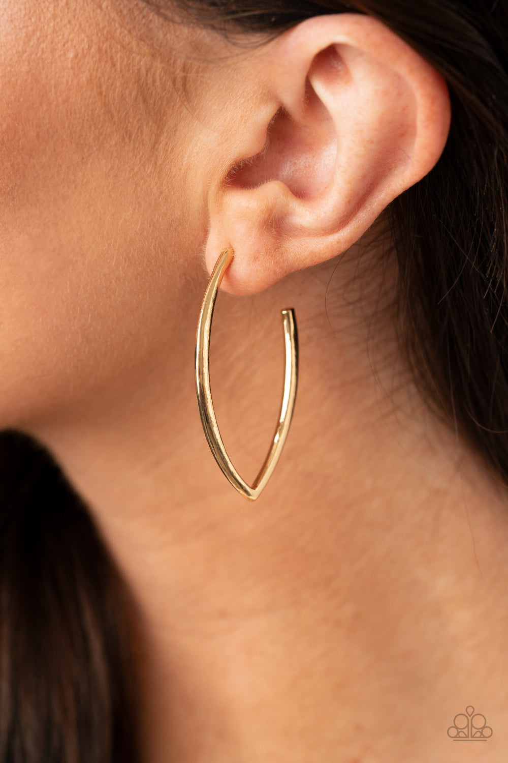 Point-Blank Beautiful Paparazzi Earrings-Gold