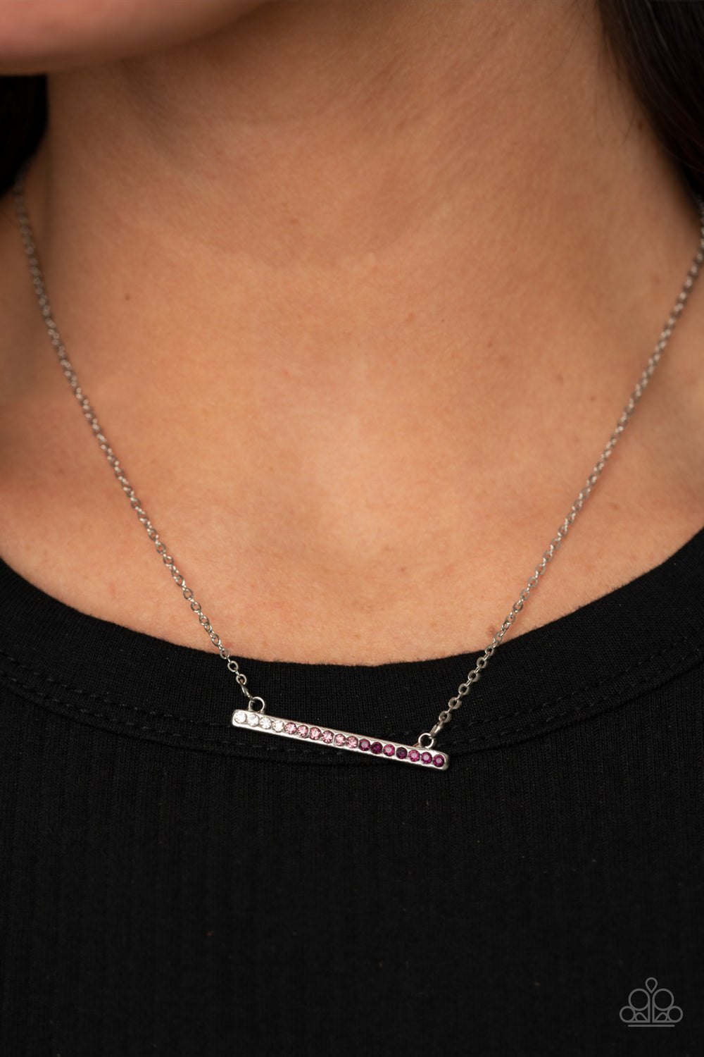 Sparkly Spectrum Paparazzi Necklace-Purple