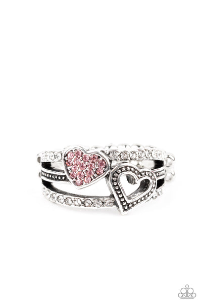 You Make My Heart BLING Paparazzi Ring-Pink