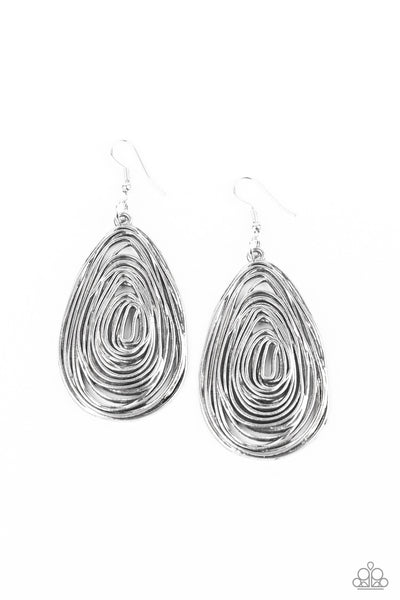 Rural Ripples Paparazzi Earrings-Silver