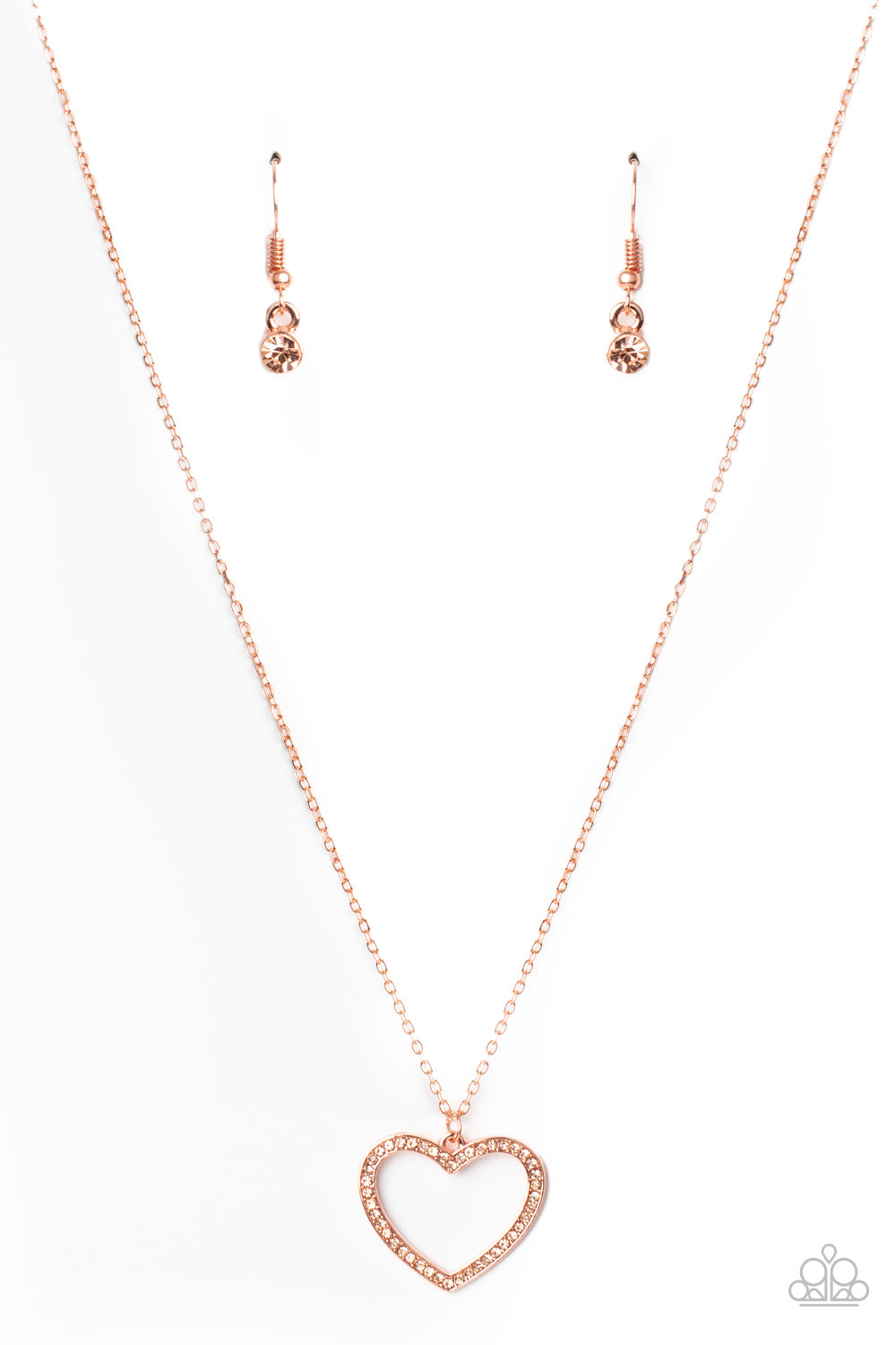 GLOW by Heart Paparazzi Necklace-Copper