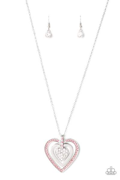 Bless Your Heart Paparazzi Necklace-Pink