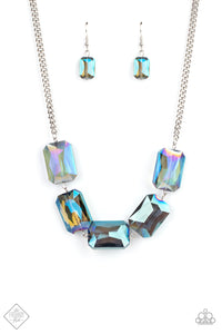 Heard It On The HEIR-Waves Paparazzi Necklace-Blue