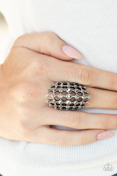 Fiercely Flashy Paparazzi Ring-Silver