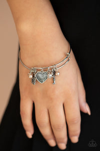 Here Comes Cupid Paparazzi Bracelet-Brown