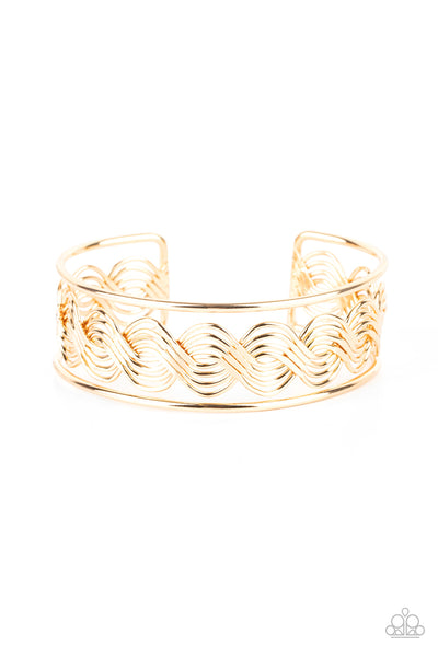 WEAVE An Impression Paparazzi Bracelet-Gold