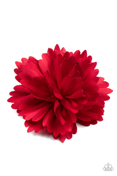 Picnic Posh Paparazzi Hair Clip-Red