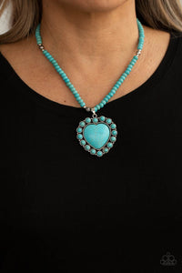 A Heart Of Stone Paparazzi Necklace-Blue