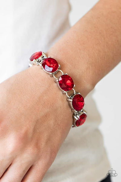 Mind Your Manners Paparazzi Bracelet-Red